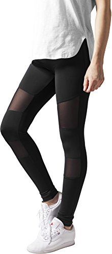 Urban Classics Ladies Tech Mesh Leggings, Schwarz (black 7), XS