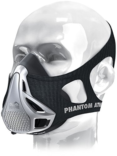 Phantom Athletics Erwachsene Training Mask Trainingsmaske, Silber, M